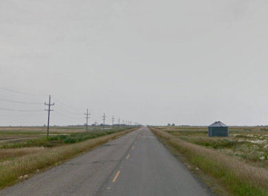 The road in Manitoba where the vehicle was discovered.