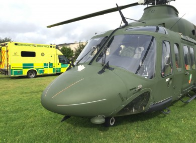 The Air Corps 112 helicopter.
