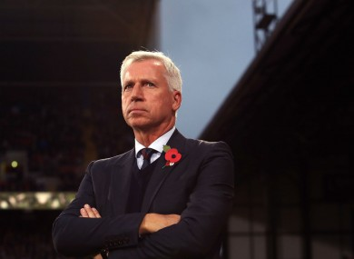 Crystal Palace manager Alan Pardew.