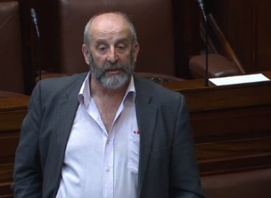 Danny Healy-Rae speaking in the Dáil today.
