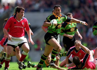 Lam, centre, and Foley, left, first did battle in the 2000 Heineken Cup final.