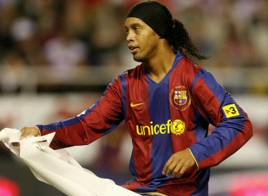 Former Barcelona star Ronaldinho.