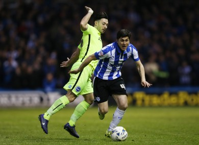Towell's sole league appearance for Brighton came in the first-leg of the Championship semi-final.