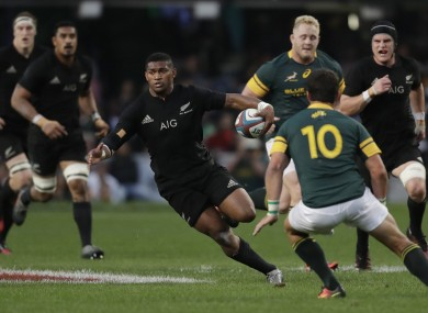 New Zealand'™s Waisake Naholo in possession.