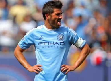 New York City star David Villa has been playing in the MLS since 2014.