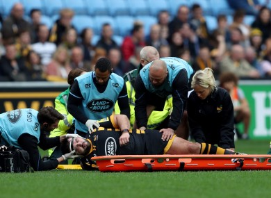 Moore suffered neck pains after a collapsed scrum.