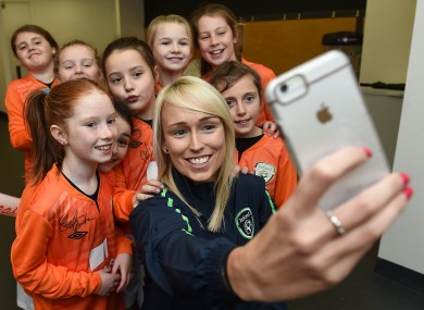 Stephanie Roche is happy in the latest chapter of her career.