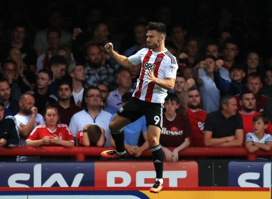 Hogan has eight goals in 16 appearances for Brentford this season.
