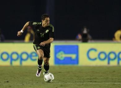 Mexico forward Javier Hernandez has scored five goals in nine games in the Bundesliga this season.