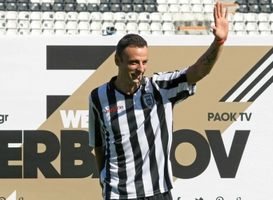 Dimitar Berbatov has been without a club since leaving Greek side PAOK.