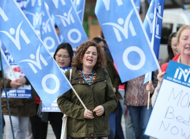 Last year, the INMO protested against their work and pay conditions.