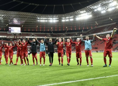 Leipzig's players celebrate (file pic).