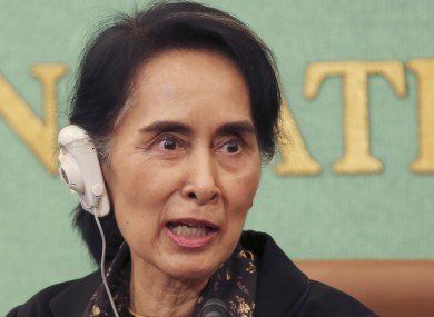 Myanmar's Foreign Minister Aung San Suu Kyi photograhed earlier this month. She said her Government will not blame anyone for recent violence in the Rakhine state the authorities have all the evidence.