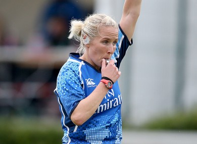 Joy Neville: capped 70 times for Ireland before turning her hand to refereeing (file photo).