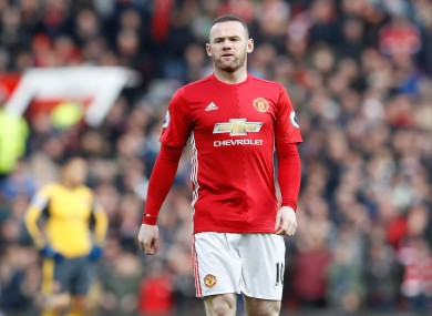 Manchester United's Wayne Rooney during the Premier League match at Old Trafford earlier.