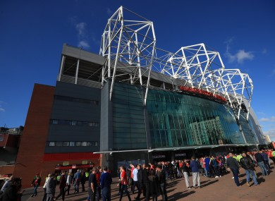 Old Trafford before last Saturday's game against Arsenal.