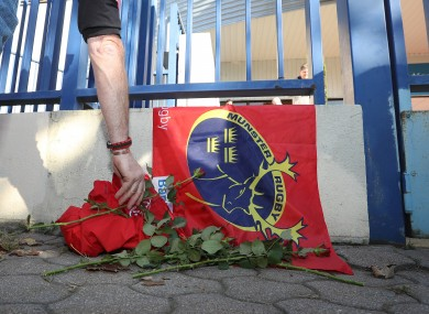 Fans paid their respects to Foley at Stade Yves du Manoir on 16 October.