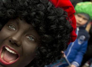 A Black Pete in Maassluis, Netherlands earlier today.