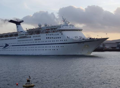 The 233m  MS Magellan on a visit to Belfast. Plans for the new birth would mean the ship could dock in Dún Laoghaire.
