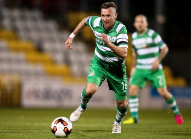 Partick Cregg has been with Shamrock Rovers since August 2014.