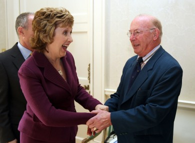 Joe Lennon with Mary McAleese back in 2009.
