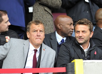 Power alongside Swindon's new Director of Football Tim Sherwood at the weekend.