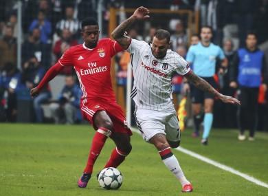 Quaresma with Benfica's Nelson Semedo.