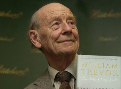 William Trevor's The Story of Lucy Gault lost out to The Life of Pi for the Man Booker Prize 2002.