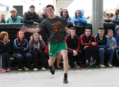 Conall McCavitt playing handball