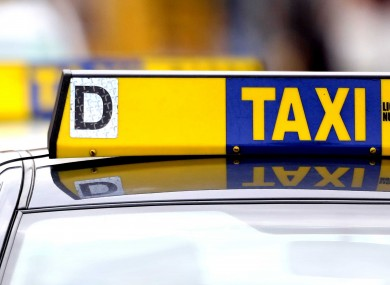 File photo of taxi sign