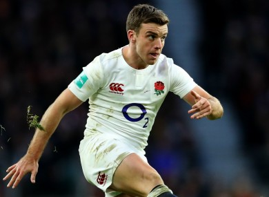 England's George Ford.