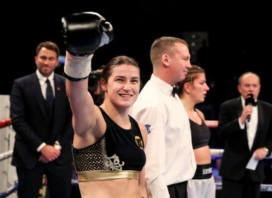 Taylor after winning her professional debut last month.