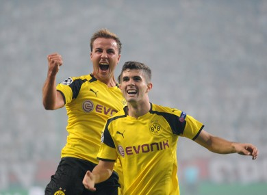 Pulisic has scored two Bundesliga goals this season.