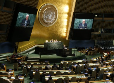 Syrian foreign minister Walid al-Moallem addresses the UN General Assembly in September.