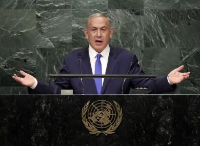 Israel's prime minister Benjamin Netanyahu addresses the United Nations General Assembly in September.