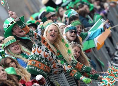 St Patricks Day parade in Dublin.