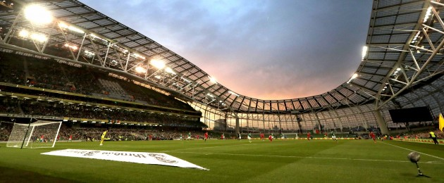 The Aviva Stadium will play host to the World Cup 2018 qualifier between Ireland and Wales on 24 March.