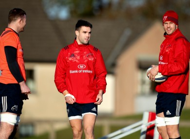 Munster players putting in the final preparations before their clash with Racing 92.