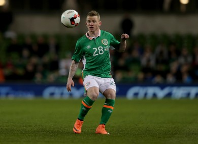 Hayes played twice for Ireland in 2016.