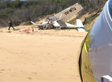The plane crashed in a remote coastal part of Queensland.