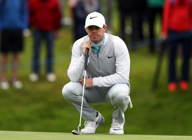 Rory McIlroy at the 2016 Dubai Duty Free Irish Open.