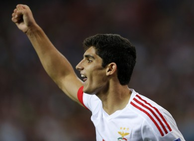 Benfica's Goncalo Guedes is being linked with a move to Man United.