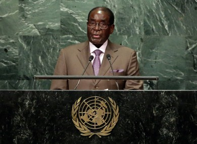 Mugabe at the UN last year