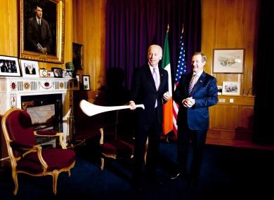 Taoiseach Enda Kenny meets US Vice President Joe Biden last year.