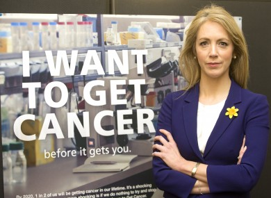 Dr Antoinette Perry at the launch of the Irish Cancer Society campaign which predicts 1 in 2 people will get the disease.