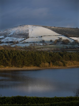 Lugnagun Mountain overlooking the Blessington Lakes last month.