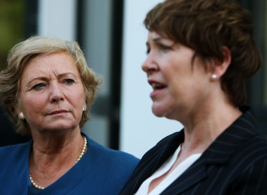 Justice Minister for the Republic of Ireland Frances Fitzgerald (left) and An Garda Siochana Commissioner Noirin O'Sullivan
