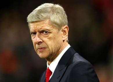 Arsene Wenger (file pic).