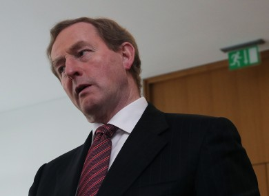 Taoiseach Enda Kenny is spending the weekend discussing his position with supporters.