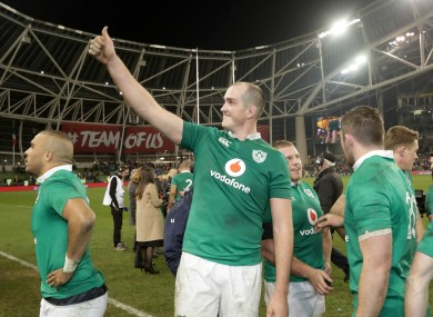 Thumbs up: Ireland's last home game was the victory over Australia.
